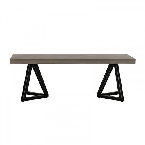 VIG Furniture - Modrest Richmond Modern Concrete & Black Metal Coffee Table