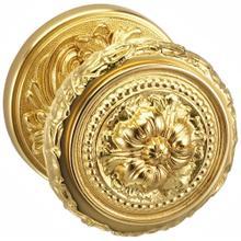 Interior Ornate Knob Latchset in D (Florentine Brass, Lacquered)