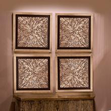 View Product - Bark Textured Wall Art Set