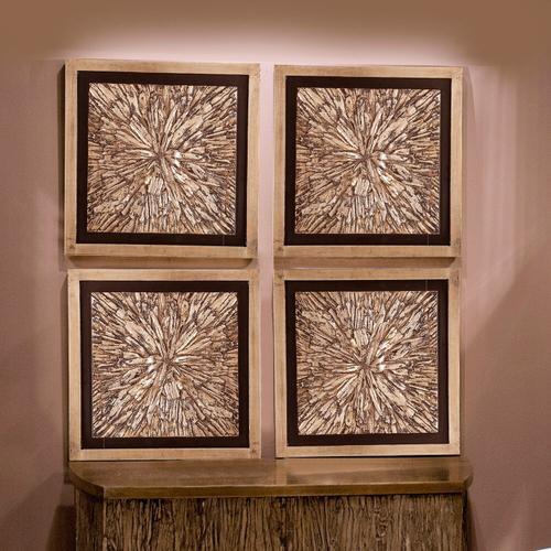 Howard Elliott - Bark Textured Wall Art Set