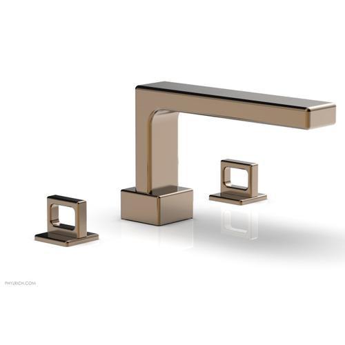 MIX Deck Tub Set - Ring Handles 290-42 - Old English Brass