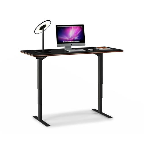 Lift Standing Desk 60 X 24 Top 6051 in Chocolate Stained Walnut
