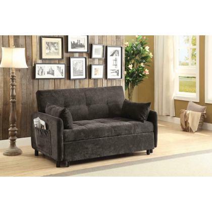 See Details - Transitional Dark Brown Sofa Bed