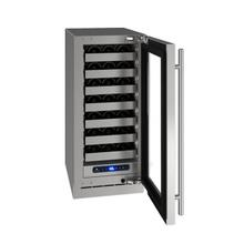 """15"""" Wine Refrigerator With Stainless Frame Finish and Right-hand Hinge Door Swing (115 V/60 Hz Volts /60 Hz Hz)"""
