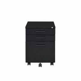 ACME Peden File Cabinet - 92880 - Contemporary - Metal (Steel), Casters - Black
