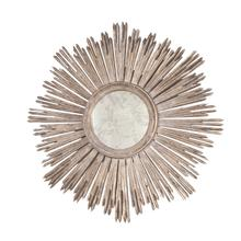 Inspired By the Iconic Emblem of the French Sun King Louis Xiv, Our Margeaux Sunburst Mirror Is At Home In Both Classic and Modern Interiors. Handcarved With A Hand Finished Champagne Silver Leaf Finish and Antique Mirror INSET.