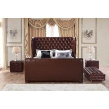 Modrest 1120 Modern Brown Bonded Leather Bed