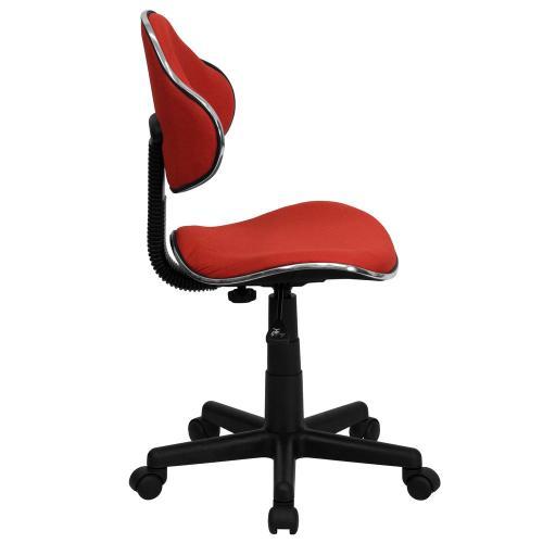 Red Fabric Ergonomic Swivel Task Chair