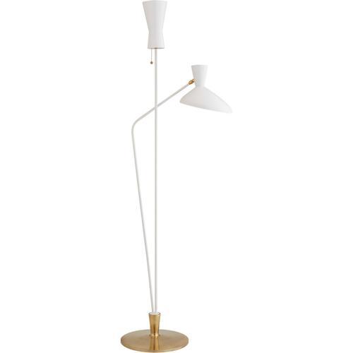 AERIN Austen 70 inch 40 watt Matte White Dual Function Floor Lamp Portable Light, Large