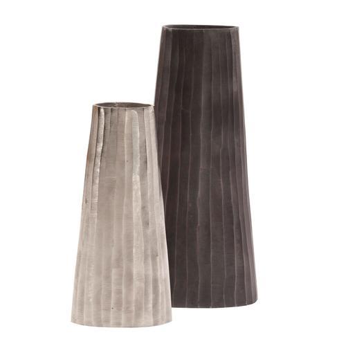 Howard Elliott - Graphite Chiseled Metal Vase
