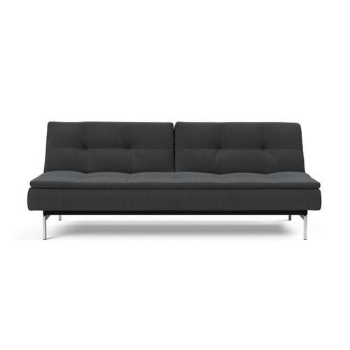 "DUBLEXO SOFA, 45""X83""/SP SOFA LEGS, STAINLESS STEEL/BLACK"