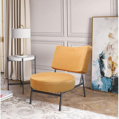 Gallery - Modrest Sami - Modern Orange Velvet Accent Chair