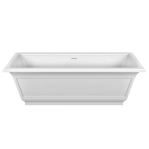 """Freestanding bathtub in Cristalplant® Matte white L 70-7/8"""" x W 31-7/8"""" x H 21-5/8"""" Drain included CSA certifiedPlease check if the capacity load of the slab is in comformitywith the specificationsPlease contact Gessi North America for freight terms"""