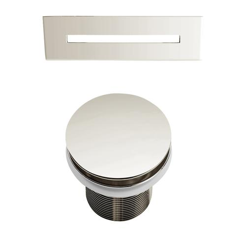 """Ceres 59"""" Acrylic Tub with Integral Drain and Overflow - Polished Nickel Drain and Overflow"""