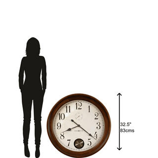 See Details - Howard Miller Auburn Oversized Wall Clock 620484