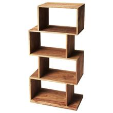 See Details - The ultra-modern Stockholm etagere will add style to your home. Its four boxes can be used to display family photos, collectables and trinkets on the many shelf spaces offered by this unique book case.