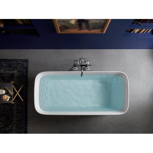 "White 66"" X 31"" Freestanding Bath With Center Toe-tap Drain"