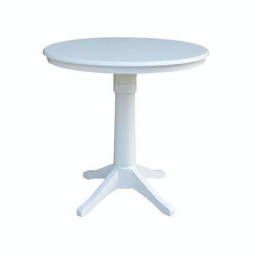 "John Thomas Furniture - 36"" Pedestal Table in Pure White"