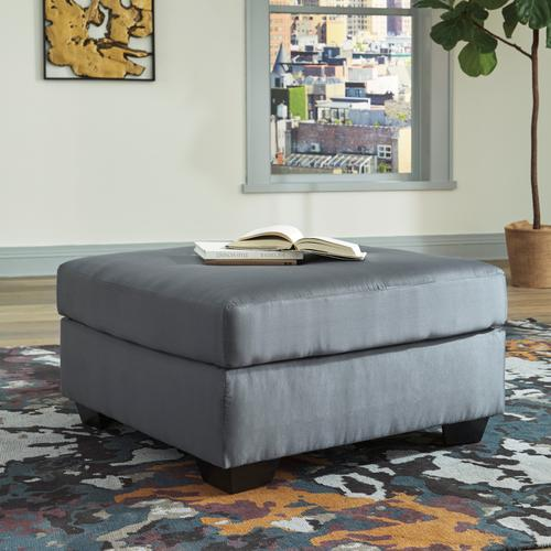 Darcy Oversized Accent Ottoman Steel