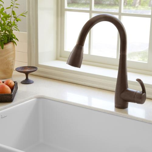 American Standard - Quince 1-Handle Pull Down High-Arc Kitchen Faucet  American Standard - Oil Rubbed Bronze