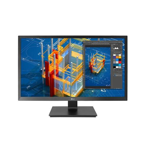LG - 27'' TAA IPS FHD Monitor with Adjustable Stand & Built-in Speakers & Wall Mountable