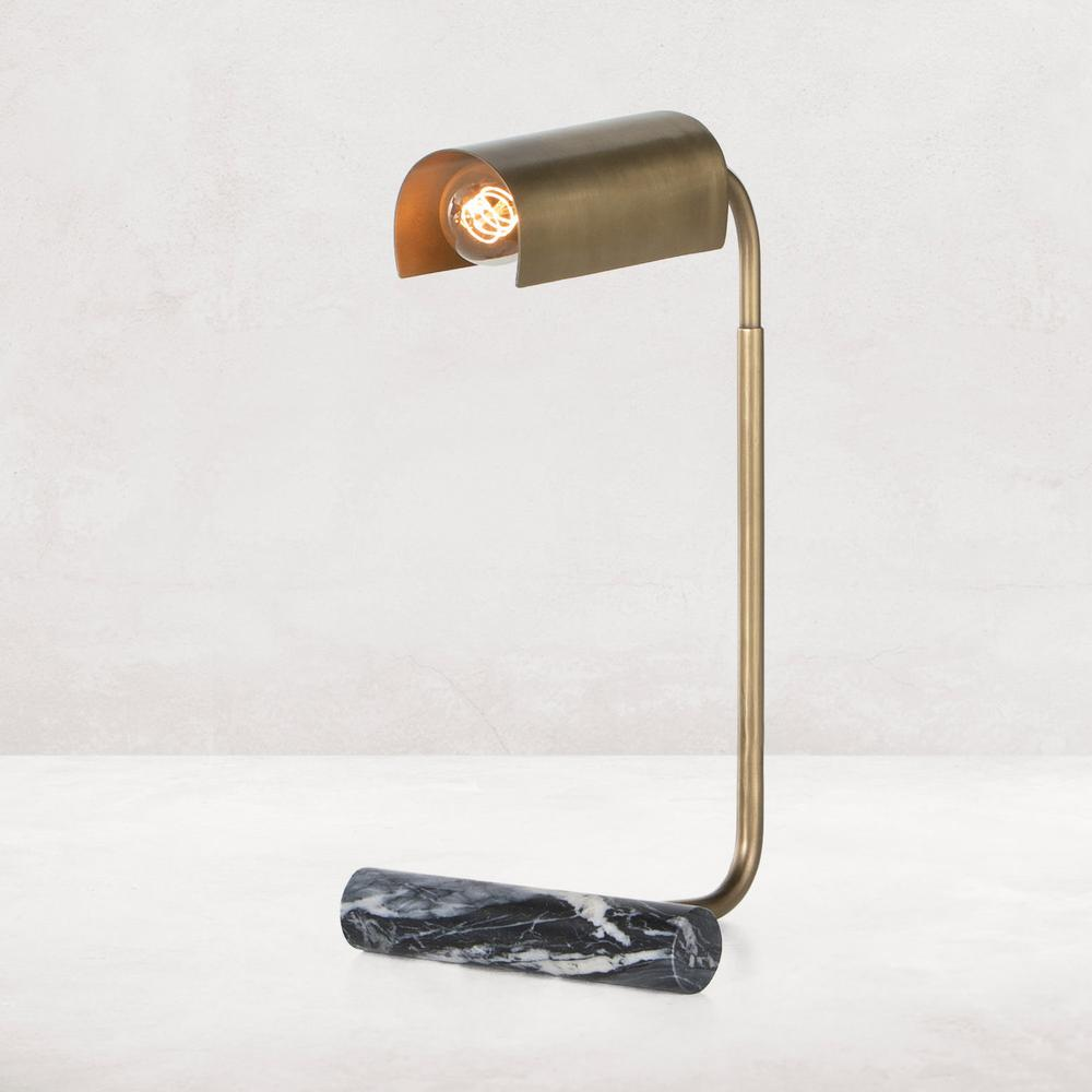 Black Marble Finish Hector Task Lamp