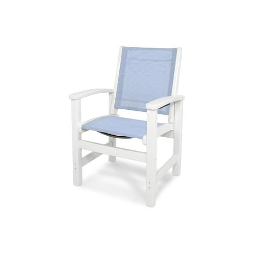White & Poolside Coastal Dining Chair