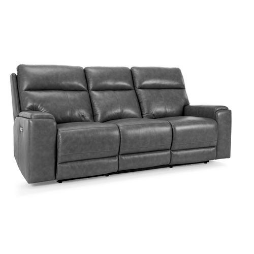 Decor-rest - Dark Grey Power Reclining Sofa with Power Head Rest