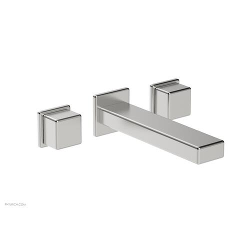 MIX Wall Lavatory Set - Cube Handles 290-14 - Satin Chrome