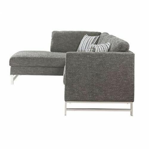 ACME Varali Sectional Sofa - 54555 - Gray Linen
