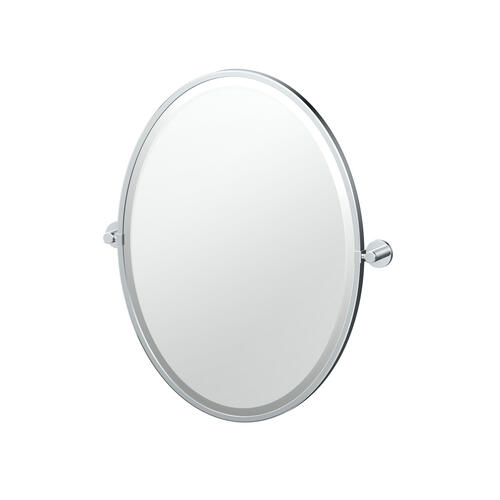 Reveal Framed Oval Mirror in Chrome