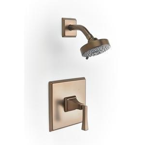 Leyden Pressure-balance Shower Set Trim with Lever Handle - Phase out - Bronze