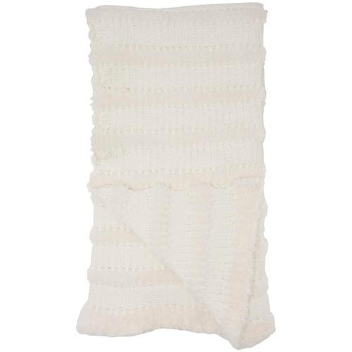 "Throw Vv190 Ivory 50"" X 60"" Throw Blanket"