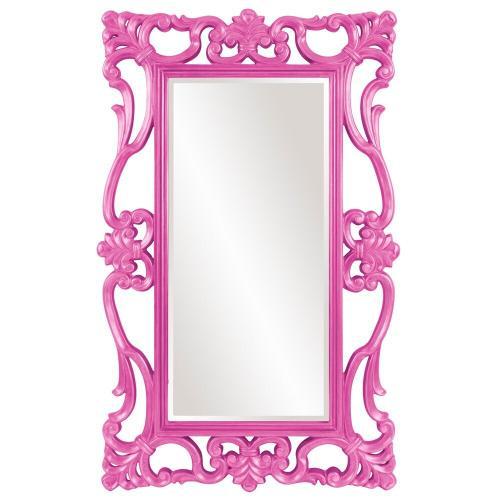 Howard Elliott - Whittington Mirror - Glossy Hot Pink