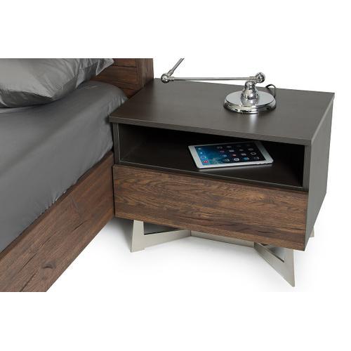VIG Furniture - Modrest Wharton Modern Dark Aged Oak Nightstand