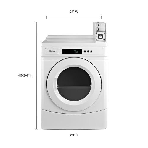"""Whirlpool Commercial - 27"""" Commercial Electric Front-Load Dryer Featuring Factory-Installed Coin Drop with Coin Box"""