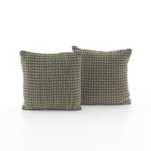 """Abella Pillow, Set of 2-20""""-dawn Grey"""