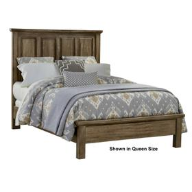 Mansion Bed with Low Profile Footboard