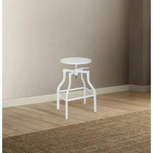 "ACME Xena Adjustable Stool w/Swivel (1Pc) - 96636 - White - 24""-30"" Seat Height"