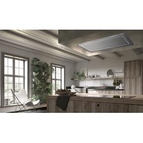 "36"" ceiling mount stainless steel island hood"
