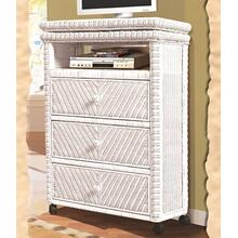 Santa Cruz Tall TV Stand - White Finish