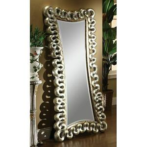 ACME Harac Accent Mirror (Floor) - 97109 - Distressed Silver