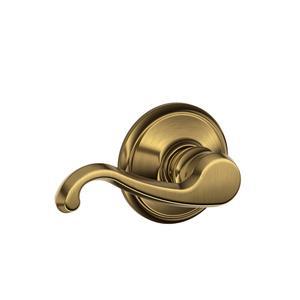 Callington Lever Hall & Closet Lock - Antique Brass Product Image