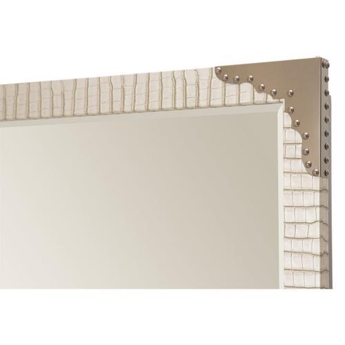Upholstered Wall Mirror Amazon Tan Gator