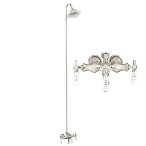 Tub Filler with Diverter - Sunflower Shower Head - Polished Chrome