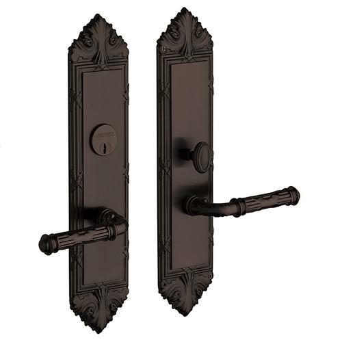 Satin Black Fenwick Escutcheon Entrance Set