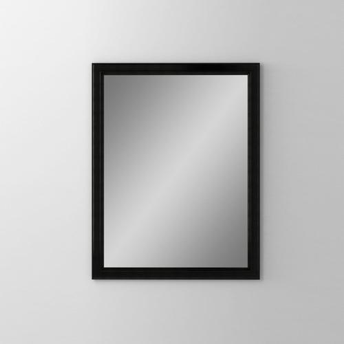"""Main Line 23-1/8"""" X 29-7/8"""" X 1-5/8"""" Bryn Mawr Framed Mirror In Brushed Black"""