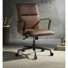 ACME Indra Office Chair - 92568 - Vintage Chocolate Top Grain Leather