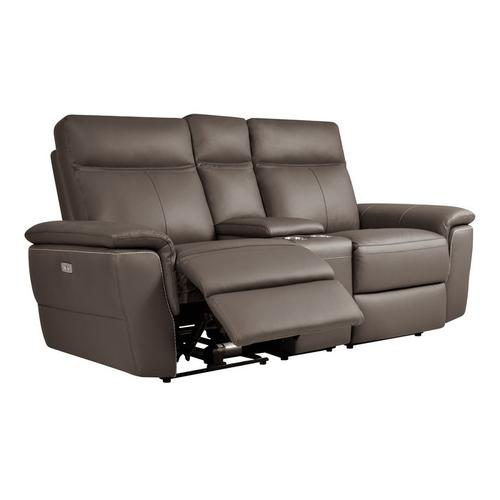 Gallery - Power Double Reclining Love Seat with Center Console