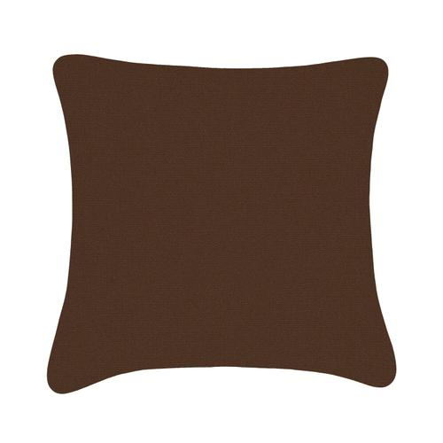 Sunbrella Promo Canvas Cushion - Dark Brown / 18